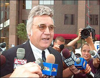 Traficant before Reporters