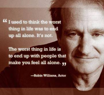 Robin Williams Alone and Gone