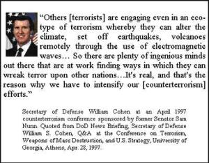 Quote of William Cohen About Geoengineering