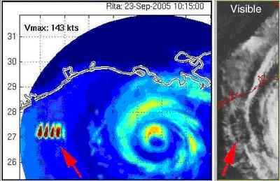 Heat Signature for Hurricane Rita