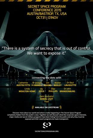 Secret Space Program 2015 Poster