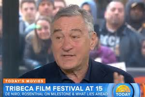 Robert DeNiro on Today Show