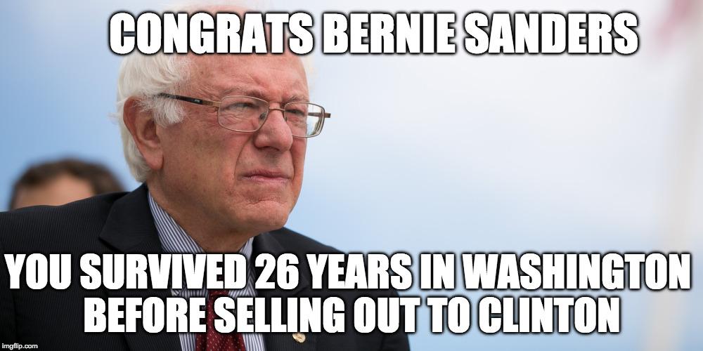 Congrats Bernie Sanders