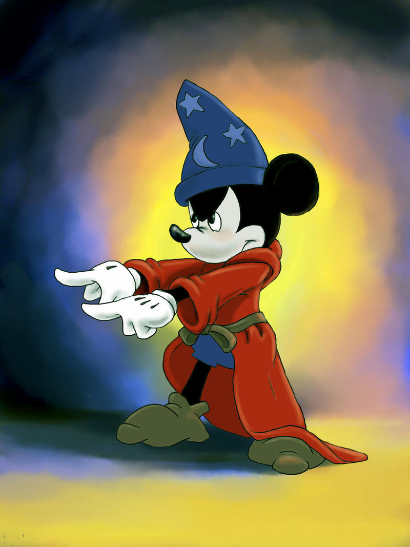 Micky Mouse Casts a Spell